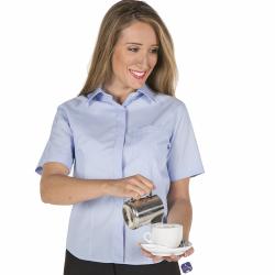 camisa-camarera-colores-manga-corta-boton-oculto