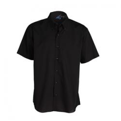 camisa-camarero-negra-manga-corta