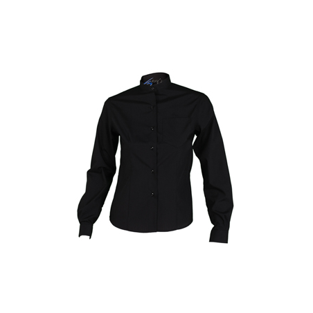 49b0ed40fc camisa-negra-camarera-manga-larga-boton-oculto