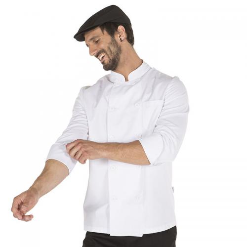 chaqueta-cocinero-unisex-blanca-manga-larga