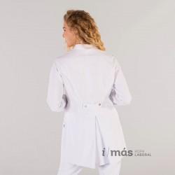 Bata de sanidad de mujer de largo medio en  microfibra