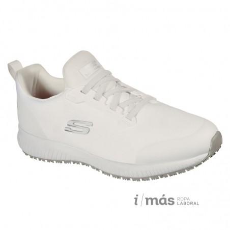 Zapatilla Skechers men antideslizantes blancas