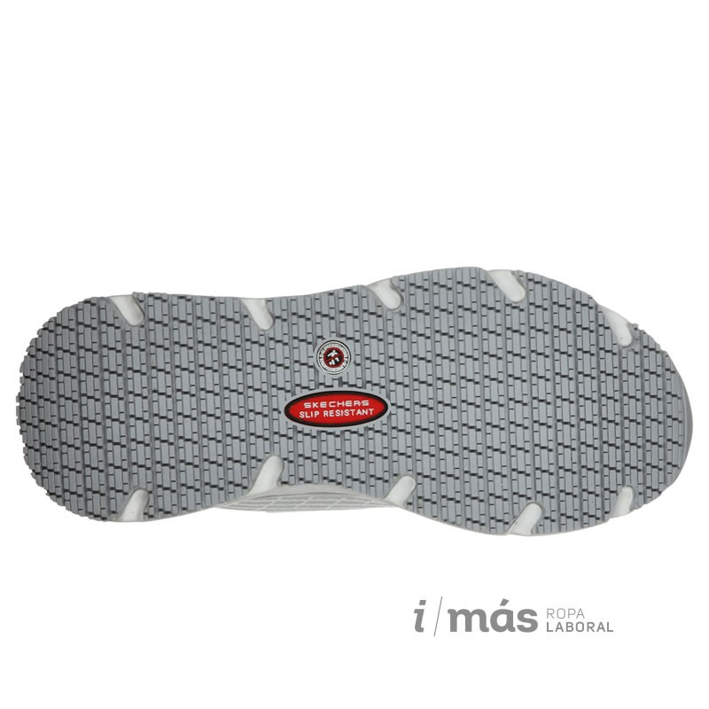 Zapatilla Skechers blanca modelo elite, antideslizante con diseño Max Cushioning