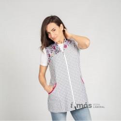 Blusa de maestra sin manga estampada con pato duck
