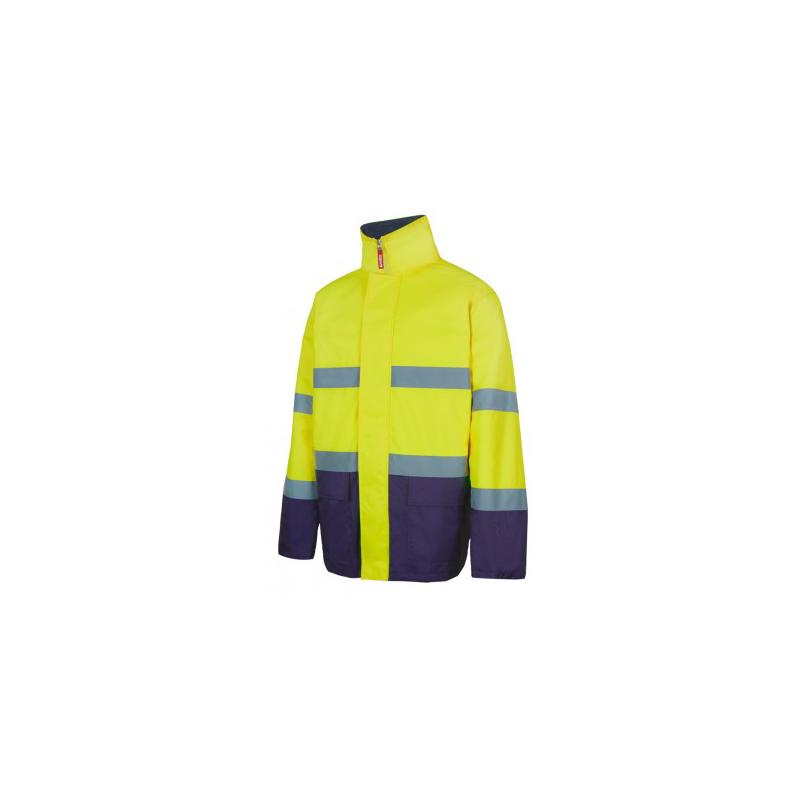 parka-bicolor-alta-visibilidad-velcro-amarillo