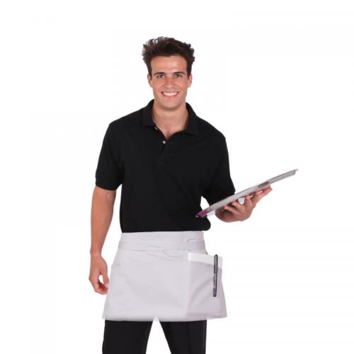 delantal-sin-peto-corto-y-bolsillo-sarga-blanco