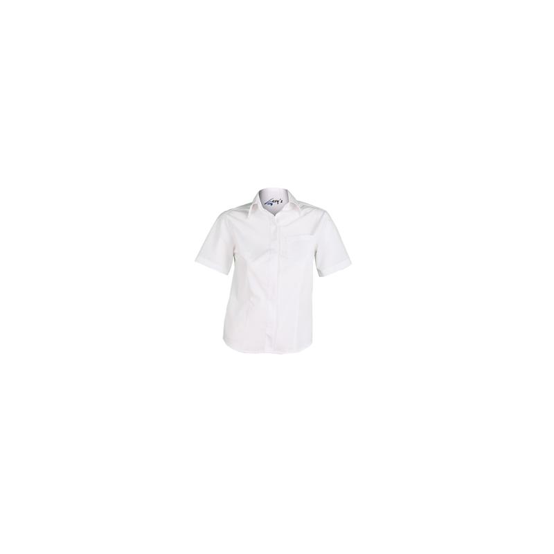 ec2c473809 ... camisa-blanca-camarera-manga-corta-boton-oculto